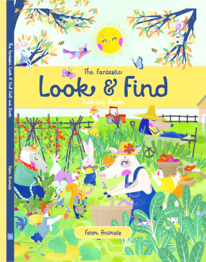 The Fantastic Look & Find Fold-Out Book: Farm Animals